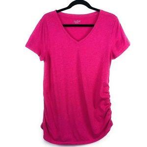 Ingrid & Isabel Maternity Top Short Sleeve Pink L